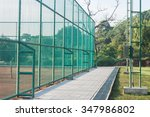 tennis court in the bangkok park | Shutterstock . vector #347986802
