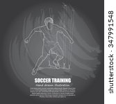 illustration of soccer training.... | Shutterstock .eps vector #347991548
