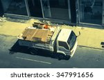 lorry with garbage and