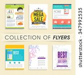 creative collections of flyer ... | Shutterstock .eps vector #347992535