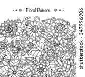 doodle background in vector... | Shutterstock .eps vector #347996906