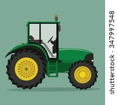 agricultural tractor green... | Shutterstock .eps vector #347997548