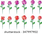 vector rose set | Shutterstock .eps vector #347997902