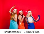 young nice girls have fun on a... | Shutterstock . vector #348001436