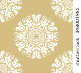 floral vector golden and white... | Shutterstock .eps vector #348001982