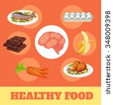 food for brain and health....   Shutterstock .eps vector #348009398