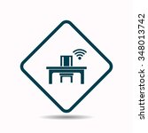wifi icon  vector illustration. ...