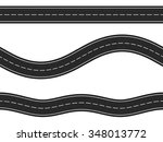 three horizontal asphalt roads... | Shutterstock .eps vector #348013772