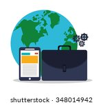 digtal marketing concept with... | Shutterstock .eps vector #348014942
