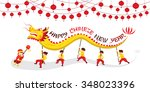 chinese new year  dragon... | Shutterstock .eps vector #348023396