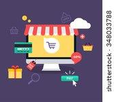e commerce  electronic business ... | Shutterstock .eps vector #348033788