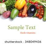 fresh vegetables isolated white ... | Shutterstock . vector #348049436