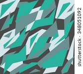 geometric camouflage pattern... | Shutterstock .eps vector #348051092