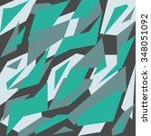 geometric camouflage pattern... | Shutterstock .eps vector #348051092