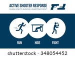 active shooter response safety... | Shutterstock .eps vector #348054452