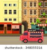 vector illustration diner on... | Shutterstock .eps vector #348055316