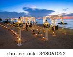evening dining by the sea | Shutterstock . vector #348061052