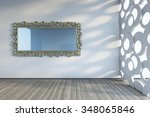 mirror on the wall 3d rendering | Shutterstock . vector #348065846