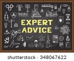 doodle about expert advice on... | Shutterstock .eps vector #348067622