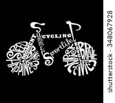 Isolated Icon Of Bike Made From ...