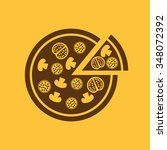 the pizza icon. pizzeria and... | Shutterstock .eps vector #348072392