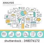 business analysis concept... | Shutterstock .eps vector #348076172