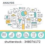 business analysis concept...   Shutterstock .eps vector #348076172