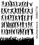 silhouettes of lots of party... | Shutterstock .eps vector #3480776