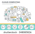 cloud computing concept... | Shutterstock .eps vector #348085826