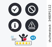 information icons. stop... | Shutterstock .eps vector #348091112