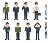 businessman character set in... | Shutterstock .eps vector #348091322