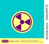 nuclear danger icon | Shutterstock .eps vector #348104972