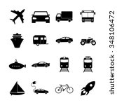transportation icons. flat... | Shutterstock . vector #348106472