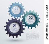 vector of infographic gears  ... | Shutterstock .eps vector #348112055