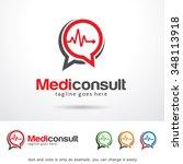 medic consult logo template... | Shutterstock .eps vector #348113918