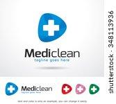 medic clean logo template... | Shutterstock .eps vector #348113936