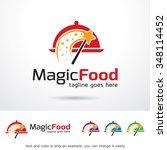 magic food logo template design ... | Shutterstock .eps vector #348114452