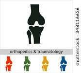 knee joint icon.set of... | Shutterstock .eps vector #348116636