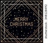 vector set of christmas... | Shutterstock .eps vector #348128492