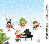 christmas music | Shutterstock .eps vector #348132998