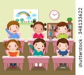 Illustration Of School Kids...