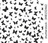 butterflies set isolated... | Shutterstock . vector #348152462