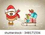childish joy christmas card ... | Shutterstock .eps vector #348171536