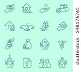 insurance icons  thin line style | Shutterstock .eps vector #348176765