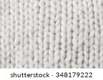 white knitted wool background ... | Shutterstock . vector #348179222