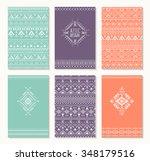 set of cards  ethnic design.