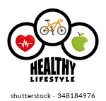 fitness and healthy lifestyle... | Shutterstock .eps vector #348184976
