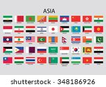 asia flag collection | Shutterstock . vector #348186926