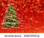christmas tree from the xmas... | Shutterstock . vector #348190016