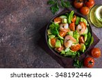 Salad With Avocado And Shrimps...